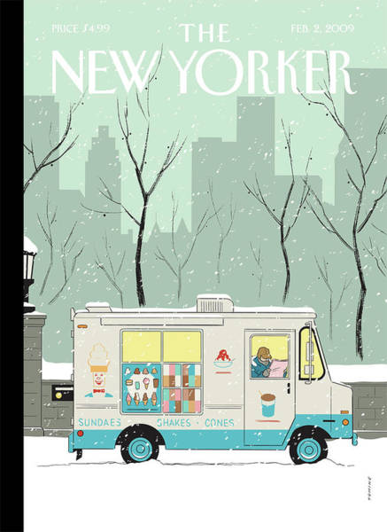 Painting - New Yorker February 2nd, 2009 by Adrian Tomine