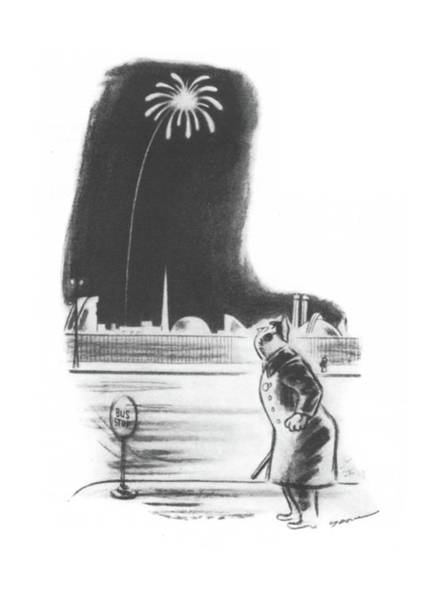 Fireworks Drawing - New Yorker February 3rd, 1940 by Leonard Dove