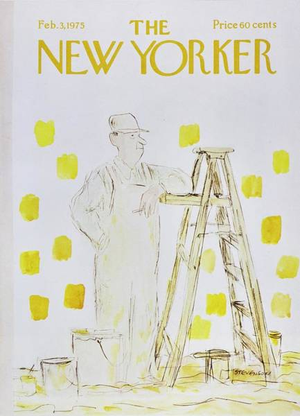 Headgear Painting - New Yorker February 3rd 1975 by James Stevenson