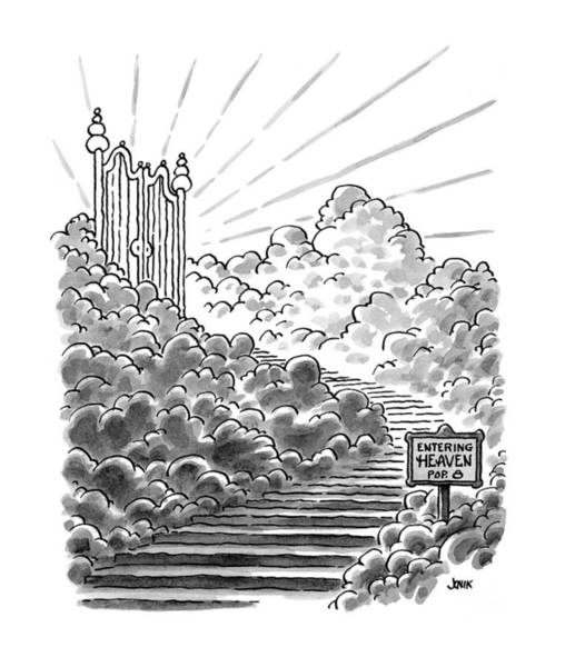 1997 Drawing - New Yorker February 3rd, 1997 by John Jonik