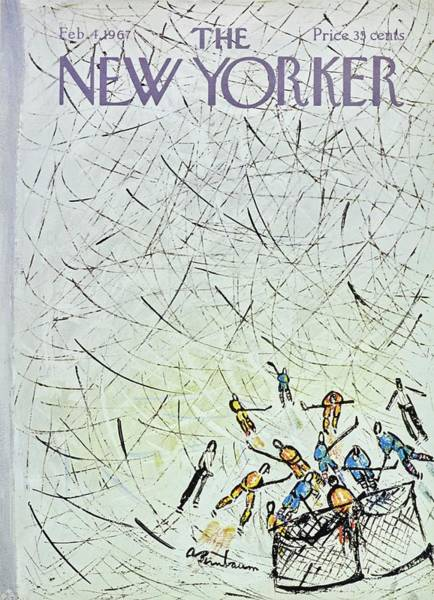 Ice Painting - New Yorker February 4th 1967 by Aaron Birnbaum