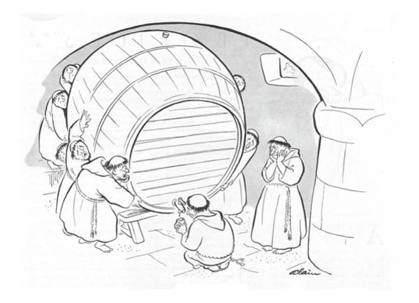 Barrels Drawing - New Yorker February 5th, 1944 by  Alain