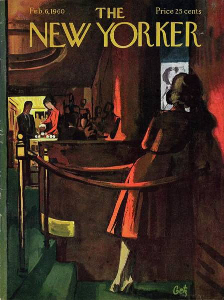 Night Painting - New Yorker February 6th 1960 by Arthur Getz