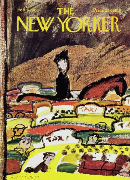 Riding Painting - New Yorker February 6th 1965 by Andre Francois