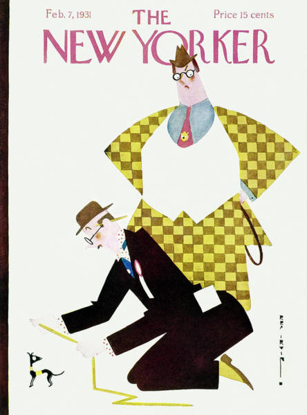 Struggle Painting - New Yorker February 7 1931 by Rea Irvin