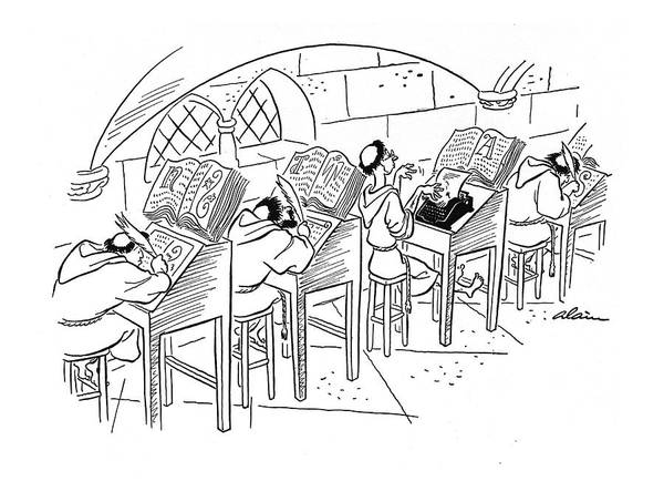 Row Drawing - New Yorker February 8th, 1941 by  Alain