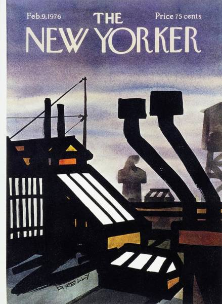 Roof Painting - New Yorker February 9th 1976 by Donald Reilly