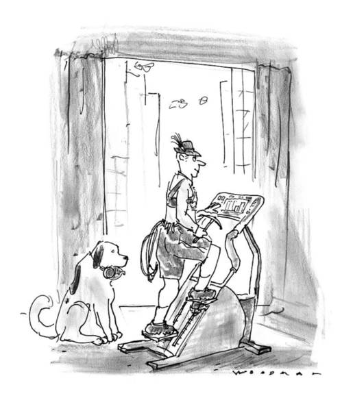 Work Out Drawing - New Yorker February 9th, 1998 by Bill Woodman