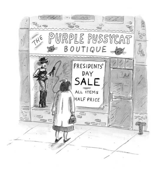 Pussycat Drawing - New Yorker February 9th, 1998 by Roz Chast