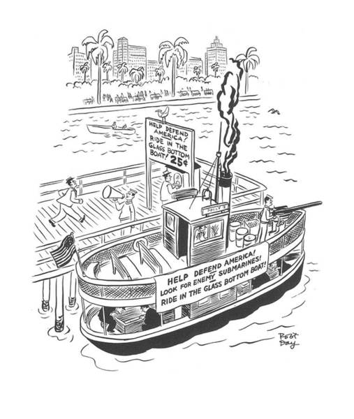 South Island Drawing - New Yorker January 10th, 1942 by Robert J. Day