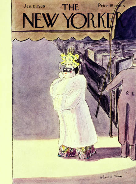 Illustration Painting - New Yorker January 11 1936 by Helene E. Hokinson