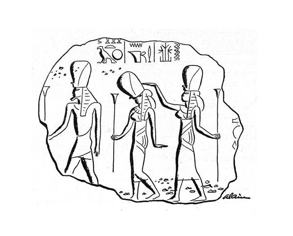Ancient Egypt Drawing - New Yorker January 11th, 1941 by  Alain