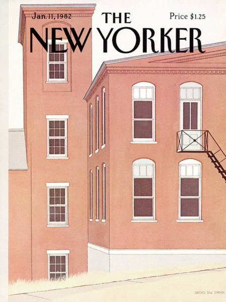 Architecture Painting - New Yorker January 11th, 1982 by Gretchen Dow Simpson