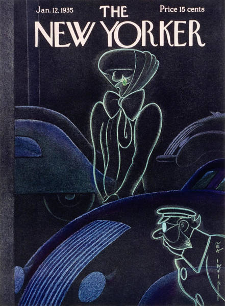 Ghosts Painting - New Yorker January 12 1935 by Rea Irvin