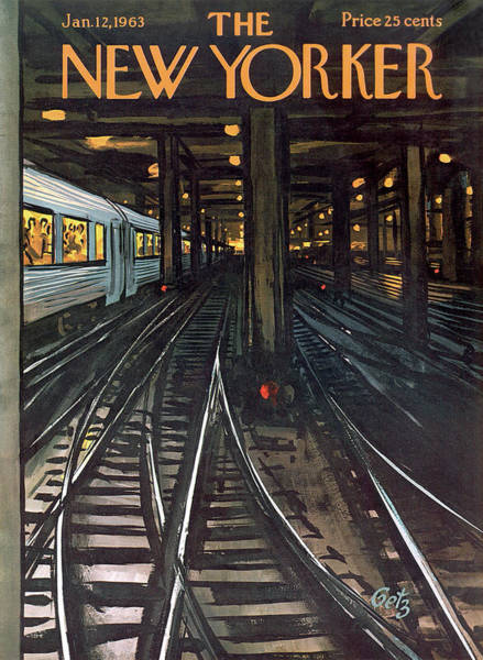 Wall Art - Painting - New Yorker January 12th, 1963 by Arthur Getz