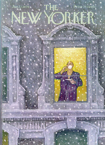 Apartment Painting - New Yorker January 12th, 1976 by Charles Saxon