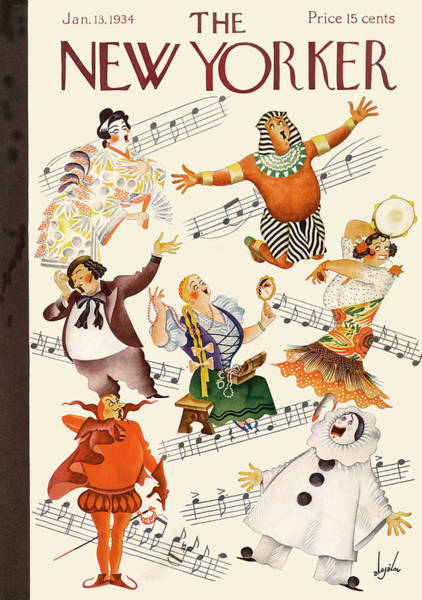 Music Painting - New Yorker January 13th, 1934 by Constantin Alajalov