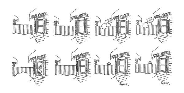 Back Yard Drawing - New Yorker January 13th, 1986 by Jack Ziegler