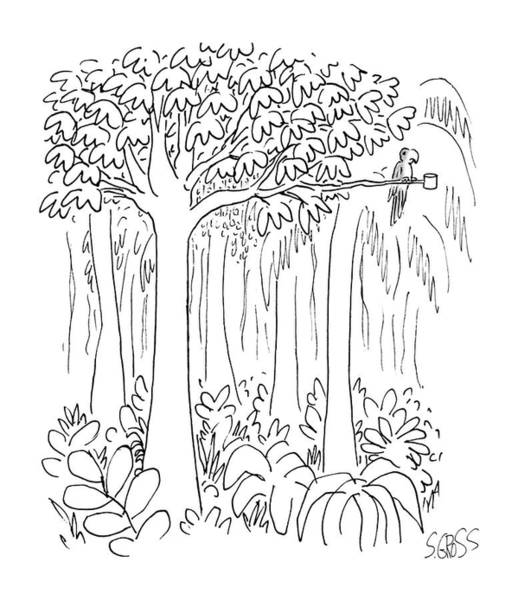 Parrot Drawing - New Yorker January 13th, 1986 by Sam Gross