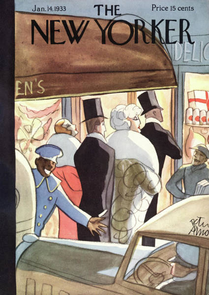 Deli Painting - New Yorker January 14th, 1933 by Peter Arno