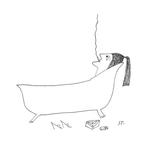 Clean Drawing - New Yorker January 14th, 1956 by Saul Steinberg