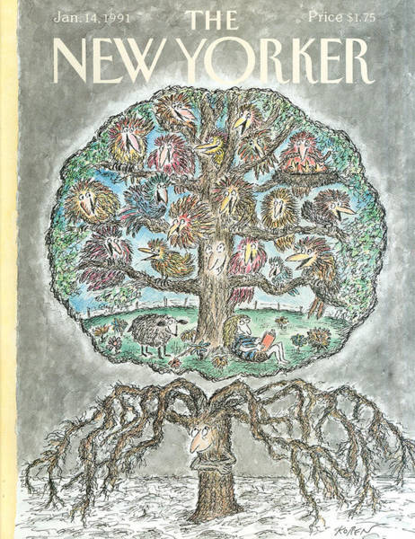 Shaded Painting - New Yorker January 14th, 1991 by Edward Koren