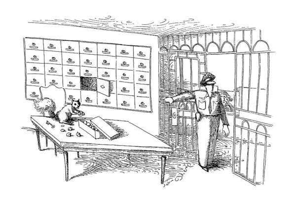 Deposit Drawing - New Yorker January 14th, 1991 by John O'Brien