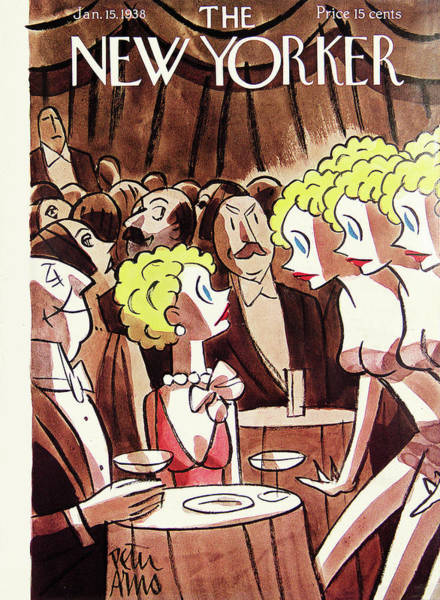 Restaurant Painting - New Yorker January 15th, 1938 by Peter Arno