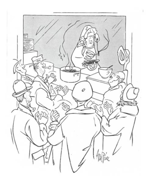 Trick Drawing - New Yorker January 15th, 1944 by George Price