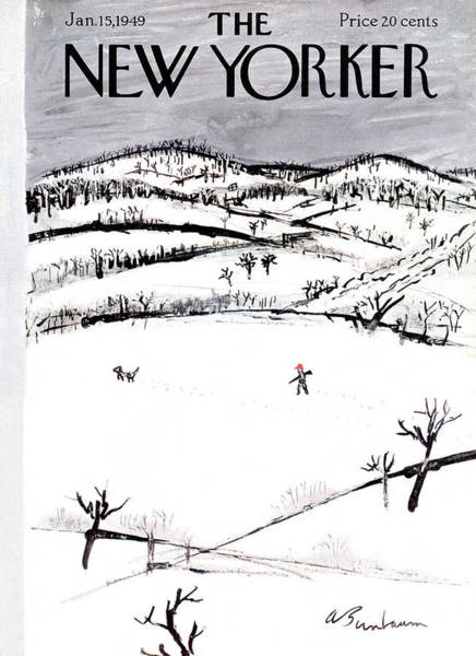 Home Painting - New Yorker January 15th, 1949 by Abe Birnbaum