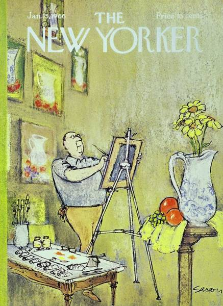 Painting - New Yorker January 15th 1966 by Charles D. Saxon