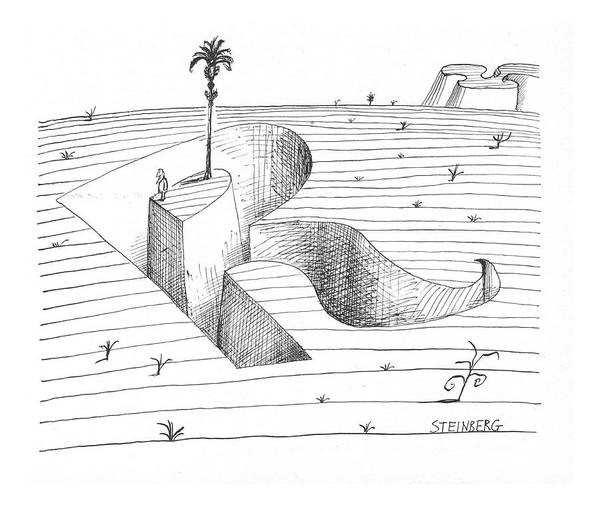 Shipwreck Drawing - New Yorker January 15th, 1966 by Saul Steinberg