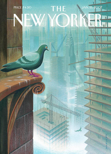 Bird Painting - New Yorker January 15th, 2007 by Eric Drooker