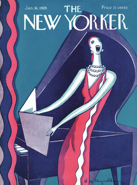 Singer Painting - New Yorker January 16th, 1926 by S W Reynolds