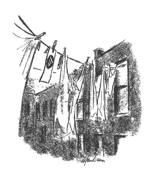 Dry Drawing - New Yorker January 16th, 1943 by Alan Dunn