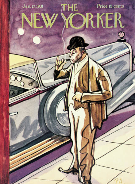 Light Painting - New Yorker January 17th, 1931 by Peter Arno