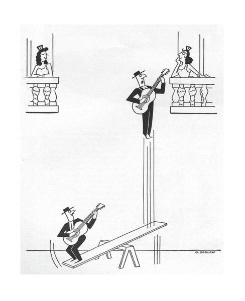 Edge Drawing - New Yorker January 17th, 1959 by Otto Soglow