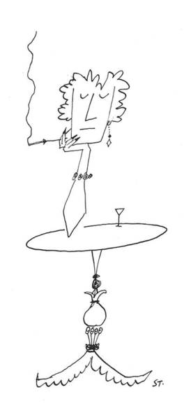 Support Drawing - New Yorker January 18th, 1958 by Saul Steinberg