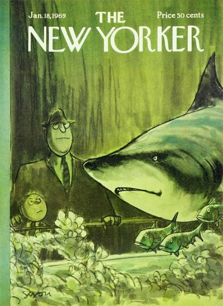 Wall Art - Painting - New Yorker January 18th 1969 by Charles D Saxon