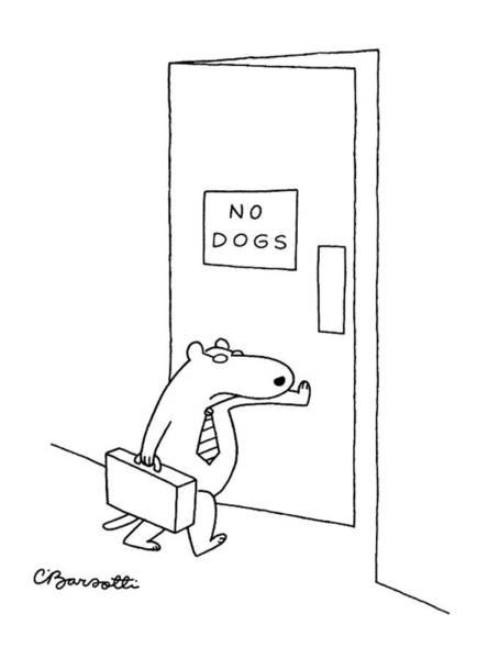 Briefcase Drawing - New Yorker January 18th, 1988 by Charles Barsotti