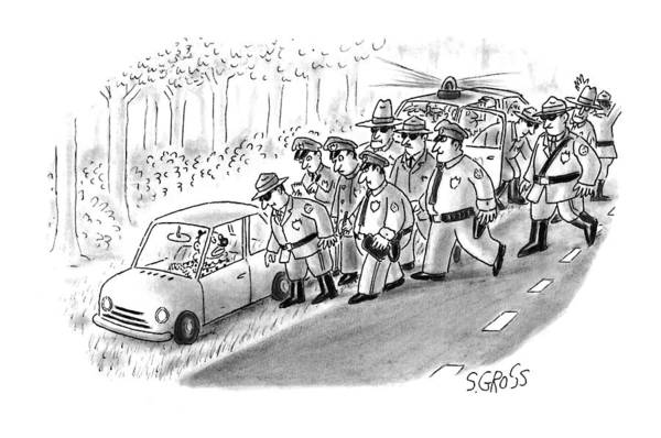 Single Drawing - New Yorker January 18th, 1993 by Sam Gross