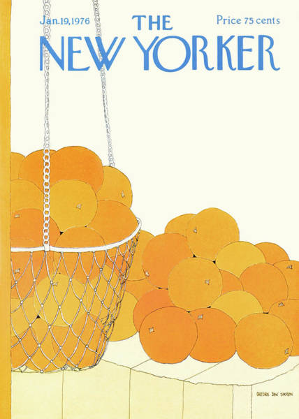 Fruits Painting - New Yorker January 19th, 1976 by Gretchen Dow Simpson