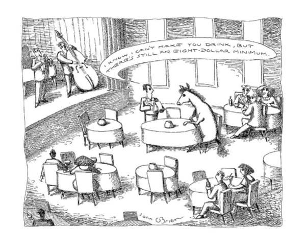 January 19th Drawing - New Yorker January 19th, 1998 by John O'Brien