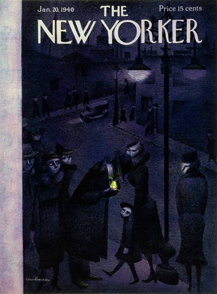 Illustration Painting - New Yorker January 20 1940 by Christina Malman