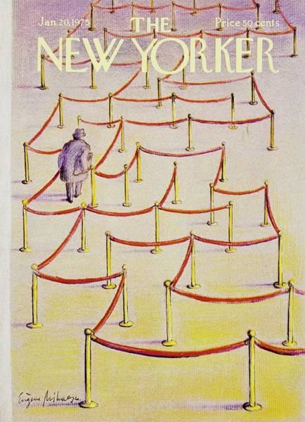 Headgear Painting - New Yorker January 20th 1975 by Eugene Mihaesco