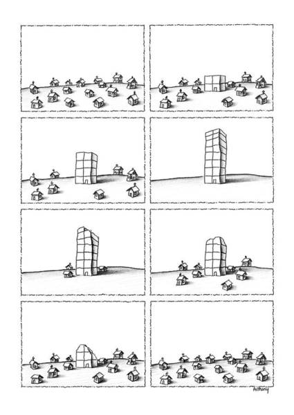 Disappear Wall Art - Drawing - New Yorker January 20th, 1986 by Anthony Taber