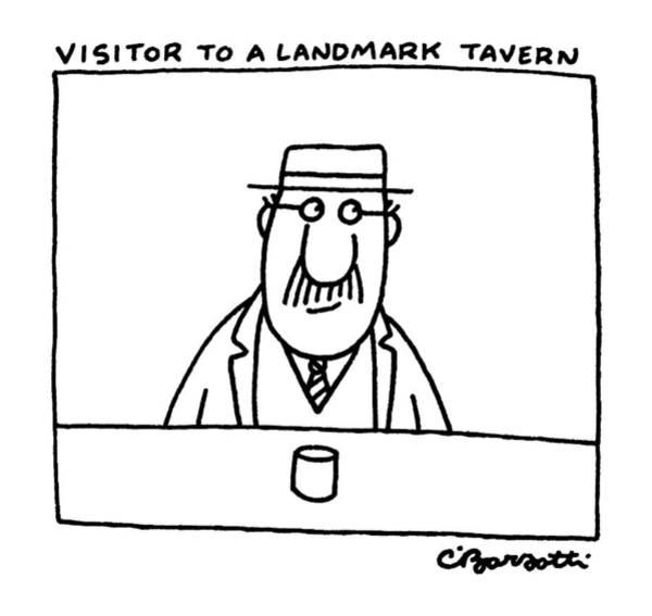 Landmark Drawing - New Yorker January 20th, 1986 by Charles Barsotti