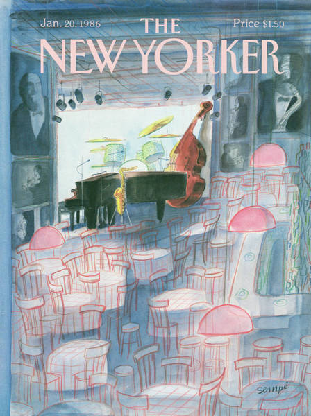Music Painting - New Yorker January 20th, 1986 by Jean-Jacques Sempe