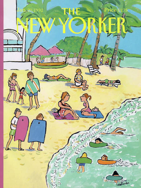 Relaxation Painting - New Yorker January 20th, 1992 by Barbara Westman