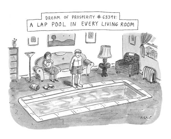 Prepare Drawing - New Yorker January 20th, 1997 by Roz Chast